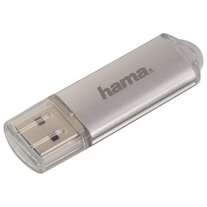 Memorie USB HAMA Laeta 108072, 128GB, USB 2.0, argintiu