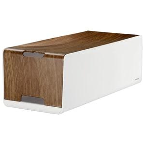 Caseta pentru organizare cabluri HAMA Woodstyle Maxi 116219, alb-maro