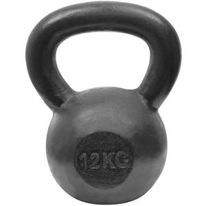 Gantera Kettlebell DHS 529FSTEKETT12, 12 kg, negru