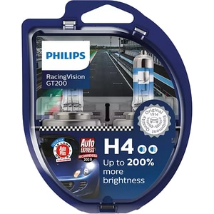 Set becuri auto PHILIPS Racing Vision+, 200%, H4, 3600K, 60/55W, 2 buc