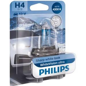 Bec auto PHILIPS White Vision Ultra, H4, 4200K, 60/55W, 1 buc