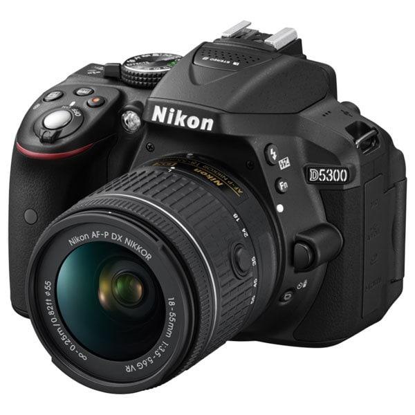 Aparat foto DSLR NIKON D5300, 24.78 MP, Wi-Fi, negru + Obiectiv AF-P 18-55mm VR