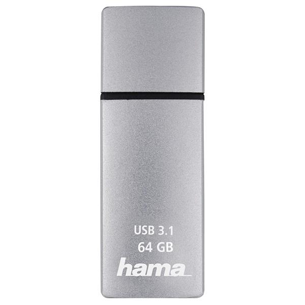 Memorie portabila HAMA C-Bolt 124195, 64GB, USB 3.1 Type-C Gen 2, argintiu