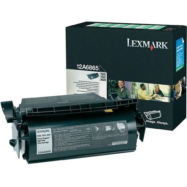 Toner original LEXMARK XL 12A6865 Return Program, negru