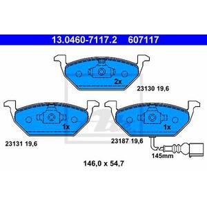 Placute frana fata ATE 13046027652, Audi