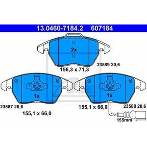 Placute frana fata ATE 13046071842, VW, Skoda
