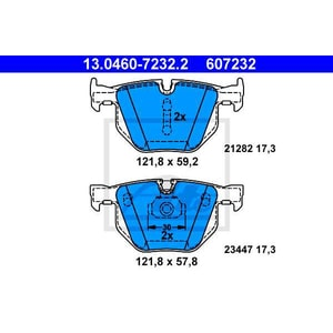 Placute frana spate ATE 13046072322, BMW