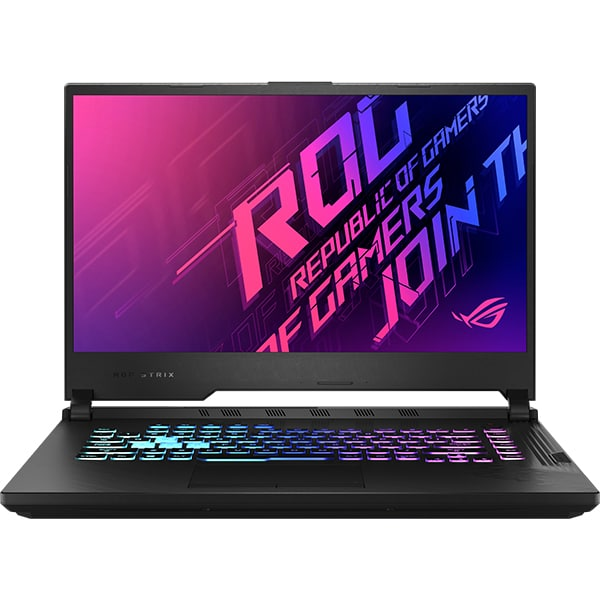 "Laptop Gaming ASUS ROG Strix G15 G512LU-AL039, Intel Core i7-10750H pana la 5GHz, 15.6"" Full HD, 8GB, SSD 2 x 512GB, NVIDIA GeForce GTX 1660 Ti 6GB, Free DOS, negru"