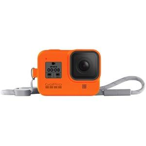 Husa de silicon + Snur reglabil Lanyard GOPRO Sleeve, portocaliu