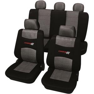 Set huse scaune PETEX Carbon, gri-negru