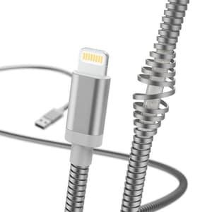 Cablu date HAMA Metal 183340, Lightning, 1.5m, argintiu