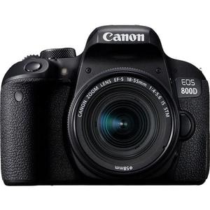 Aparat foto DSLR CANON EOS 800D, 24.2 MP, Wi-Fi, negru + Obiectiv 18-55mm IS STM