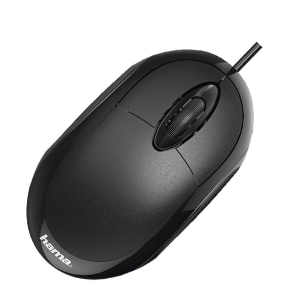 Mouse cu fir HAMA MC-100, 1000 dpi, negru