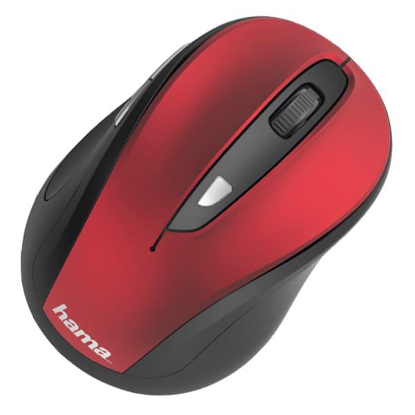 Mouse Wireless HAMA MW-400, 1600 dpi, rosu