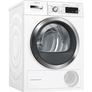Uscator de rufe BOSCH WTW855H0BY, Home Connect, Condensare si pompa de caldura, 9kg, 14 programe, Clasa A++, alb