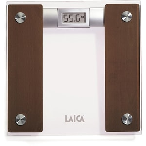 Cantar corporal LAICA PS1032, 160 kg, electronic, sticla, maro-transparent