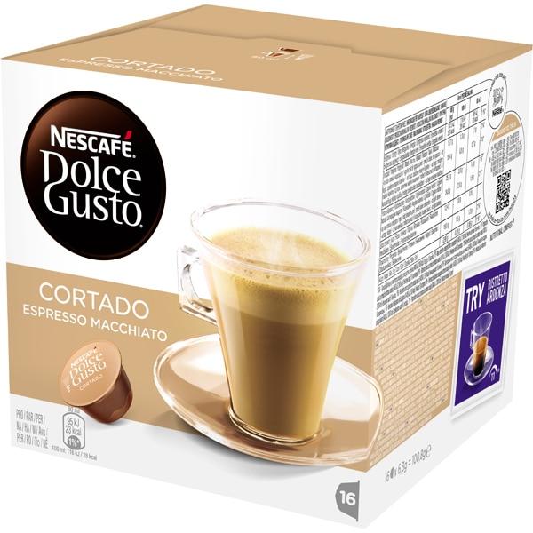 Capsule cafea NESCAFE Dolce Gusto Cortado Espresso Machiatto, 16 capsule, 100.8g
