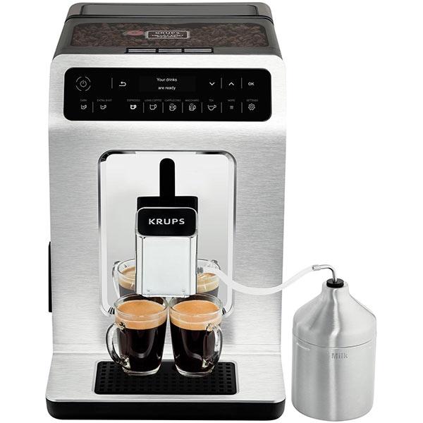 Espressor automat KRUPS Evidence EA891C10, 2.3 l, 1450W, 15 bar, argintiu-negru
