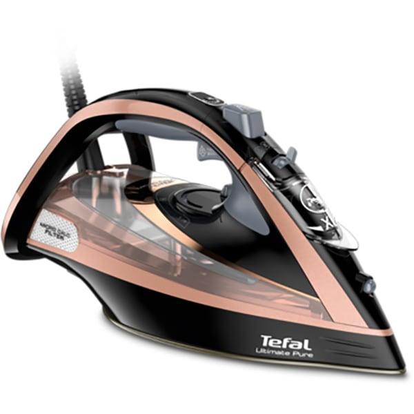 Fier de calcat TEFAL Ultimate Pure FV9845E0, 3200W, 260g/min, 350ml, talpa Durilium AirGlide, maro-negru