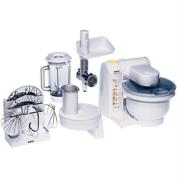 Robot de bucatarie BOSCH ProfiMixx MUM4655EU, vas 3.9l, blender 1l, masina de tocat carne, 550W, alb