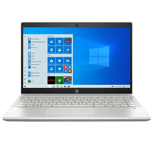 "Laptop HP Pavilion 14-ce3010nq, Intel Core i5-1035G1 pana la 3.6GHz, 14"" Full HD, 8GB, SSD 256GB, NVIDIA GeForce MX130 2GB, Windows 10 Home, argintiu"