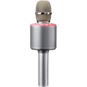 Microfon karaoke LENCO BMC-085SI, Bluetooth, USB, argintiu