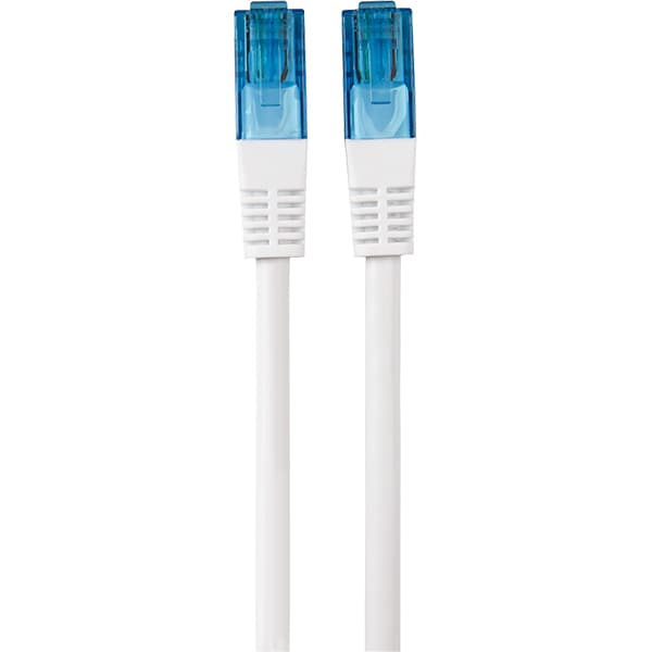 Cablu de retea UTP Cat6 HAMA 20078, 1.5m, alb
