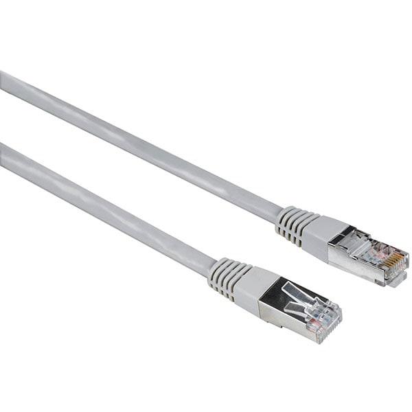 Cablu de retea F/UTP Cat5e HAMA 200918, 10 m, gri