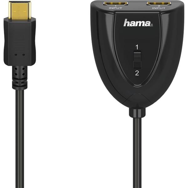 Switch HDMI - 2 x HDMI HAMA 205161, negru