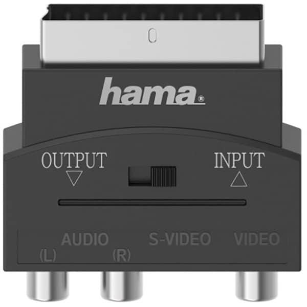 Adaptor video S-VHS/RCA - Scart HAMA 205268, negru