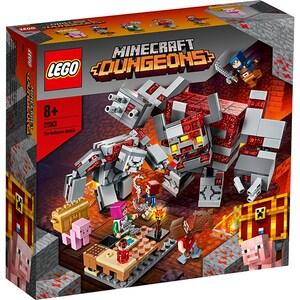 LEGO Minecraft: Batalia pentru piatra rosie 21163, 8 ani+, 504 piese