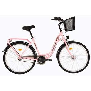 """Bicicleta de oras DHS Travel 2636, 26"""", roz"""