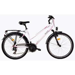 "Bicicleta de oras DHS Travel 2656, 26"", alb"