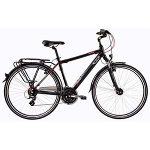 """Bicicleta de oras DHS Travel 2857, 28"""", negru-rosu"""