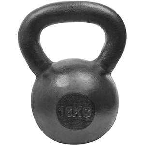 Gantera Kettlebell DHS 529FSTEKETT16, 16 kg, negru