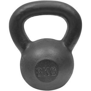 Gantera Kettlebell DHS 529FSTEKETT08, 8 kg, negru