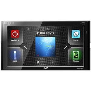 """Media receiver auto JVC KW-M540BT, 6.8"""", 4 x 50W, Bluetooth, USB, Waze, negru"""