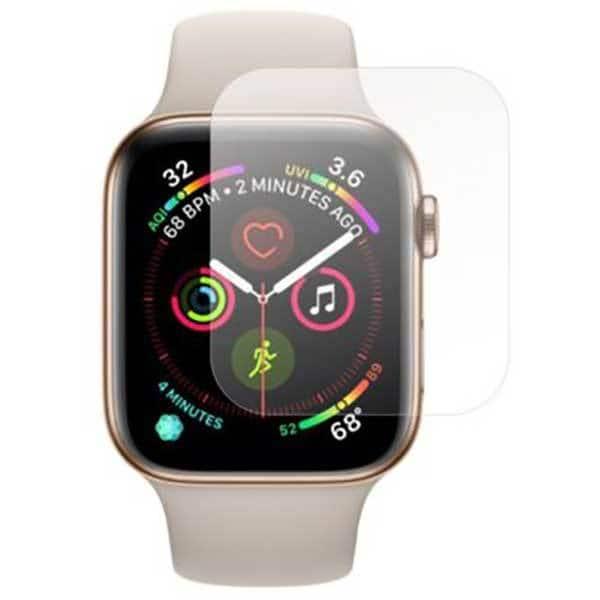 Folie protectie pentru Apple Watch Series 4 44mm, SMART PROTECTION, 4 folii incluse, polimer, display, transparent