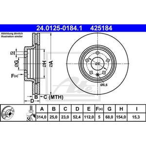 Disc frana fata ATE 24012501841, Audi