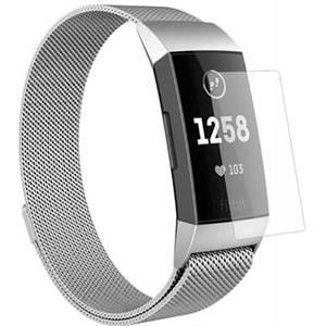 Folie protectie pentru FitBit Charge 3, SMART PROTECTION, 4 folii incluse, polimer, display, transparent