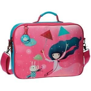 Geanta de laptop pentru copii SANTORO Kori Kumi 2555351, fuchsia-albastru