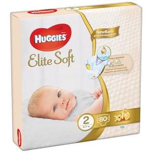 Scutece HUGGIES Elite Soft nr 2, Unisex, 4 - 6 kg, 80 buc