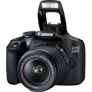 Aparat foto DSLR CANON EOS 2000D 24.1 MP, Wi-Fi, negru + Obiectiv 18-55mm IS SE