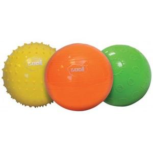 Set 3 mingi senzoriale LUDI, o luni+, multicolor