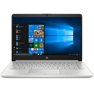"Laptop HP 14-dk0009nq, AMD Ryzen 5 3500U pana la 3.7GHz, 14"" Full HD, 8GB, SSD 512GB, AMD Radeon Vega 8, Windows 10 Home, argintiu"