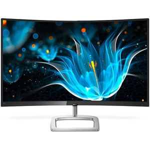 "Monitor curbat LED VA PHILIPS 328E9FJAB, 31.5"", Quad HD, 75 Hz, FreeSync, negru-argintiu"