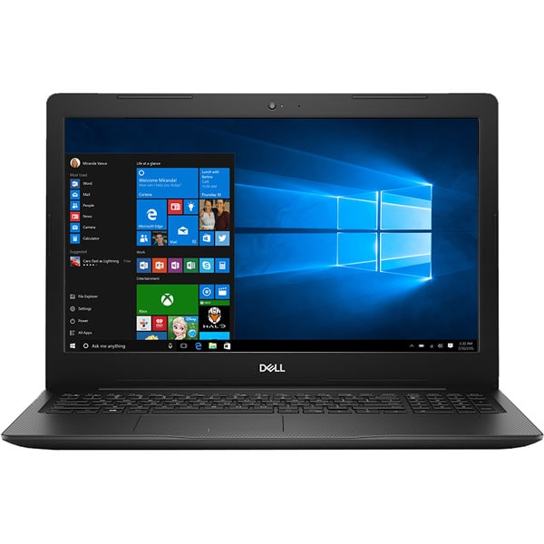 "Laptop DELL Inspiron 3585, AMD Ryzen 5 2500U pana la 3.6GHz, 15.6"" Full HD, 8GB, SSD 256GB, AMD Radeon Vega 8, Windows 10 Home, Negru"