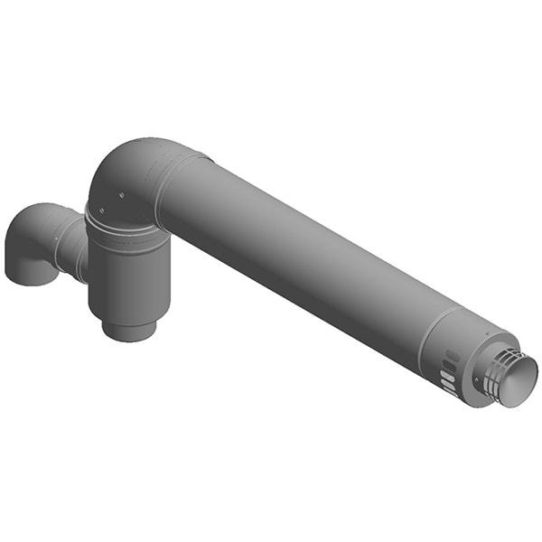 Kit coaxial centrala condensatie HABITAT 35MH9002, 90K D.100/150