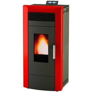 Soba pe combustibil solid ALFA PLAM Commo, 21 kW, rosu-negru