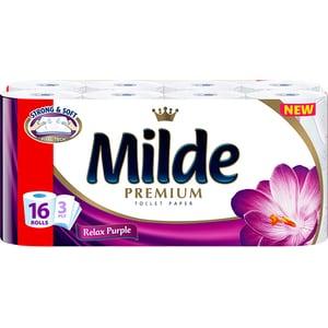 Hartie igienica MILDE Relax Purple, 3 straturi, 16 role